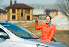 Girl and car Royalty Free Stock Photography