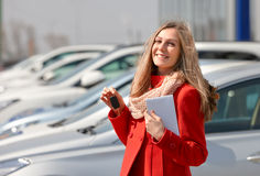 Girl and car Stock Photo