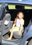 Girl in car Stock Image