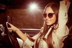 Girl in car Stock Photos