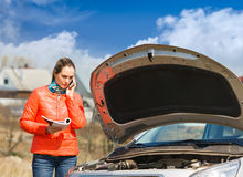 Girl and car Stock Photography