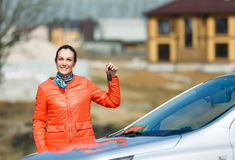 Girl and car Stock Image