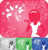 Girl on the card Royalty Free Stock Images