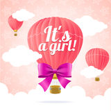 Girl Card. Vector Royalty Free Stock Images