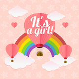 Girl Card. Vector Stock Images