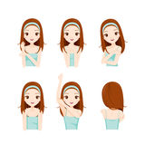 Girl Care Skin And Body Set Royalty Free Stock Images