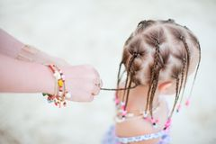 Girl with Caribbean braids Stock Photos