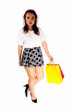 Girl caring shopping bag's. Royalty Free Stock Photo