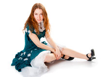Girl in carnival costume Royalty Free Stock Images