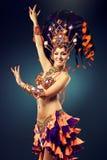 Girl in the carnival costume. Stock Photos