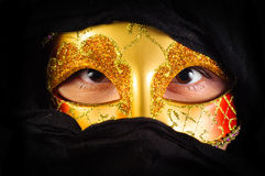 Girl in carnival mask Royalty Free Stock Photography