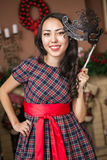 Girl on carnival Stock Image