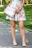 Girl carrying bag Royalty Free Stock Image