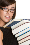 Girl Carrying Books Stock Photo