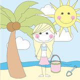 Girl cartoon Stock Photos