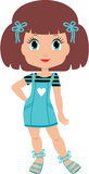 Girl cartoon. Stock Photo