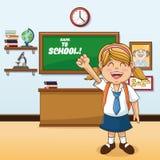 Girl cartoon of back to school design Stock Image
