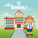 Girl cartoon of back to school design Royalty Free Stock Photography