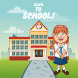 Girl cartoon of back to school design Royalty Free Stock Images