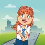 Girl cartoon of back to school design Royalty Free Stock Image