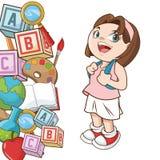 Girl cartoon of back to school design Stock Images