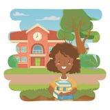 Girl cartoon of school design royalty free illustration