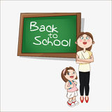Girl cartoon and teacher of back to school design Stock Images