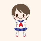 Girl cartoon theme elements vector,eps. Vector illustration file Royalty Free Stock Image