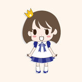 Girl cartoon theme elements vector,eps Royalty Free Stock Photo