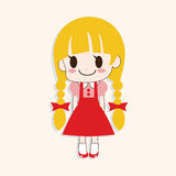 Girl cartoon theme elements vector,eps Royalty Free Stock Photos