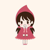 Girl cartoon theme elements vector,eps Royalty Free Stock Images