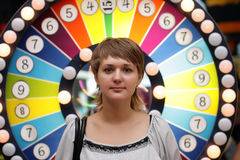 Girl in casino Stock Image