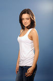 Girl in casual clothes Royalty Free Stock Photo