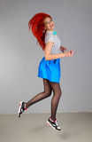 Girl in casual clothing Stock Images