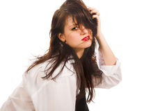 Girl with casual hairdress Stock Photography