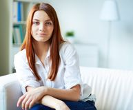 Girl in casual Royalty Free Stock Image