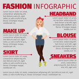 Girl in casual style fashion infographic Stock Photos