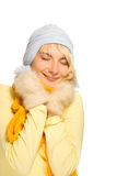 Girl in casual winter clothing Stock Image