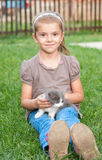 Girl and cat Royalty Free Stock Photography