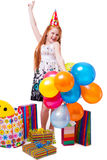 Girl celebrate her birthday Stock Image