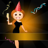 Girl celebrate the New Year Stock Photography