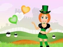 Girl celebrate St. Patrick day Stock Images