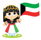 Girl Celebrates Kuwait National Day Stock Photos