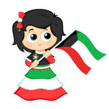 Girl Celebrates Kuwait National Day Stock Images