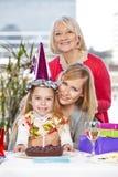 Girl celebrating birthday Royalty Free Stock Photo