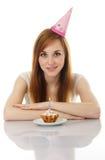 Girl celebrating her birthday Royalty Free Stock Photography