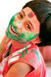 Girl celebrating Holi Royalty Free Stock Images