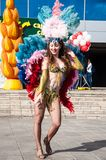 The girl at the celebration of the city Royalty Free Stock Photo