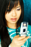 Girl with cell Stock Photo