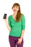 Girl with cell phone Stock Photo